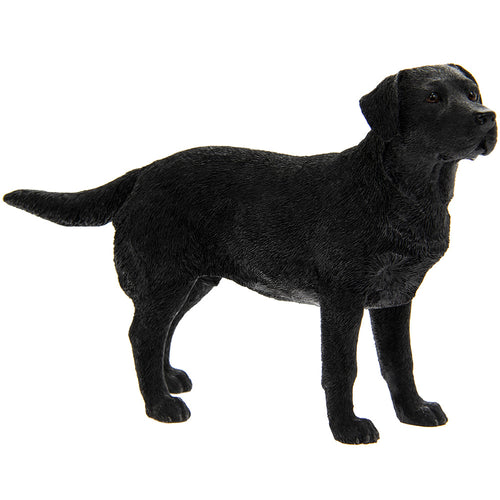 Black Labrador Dog Figurine