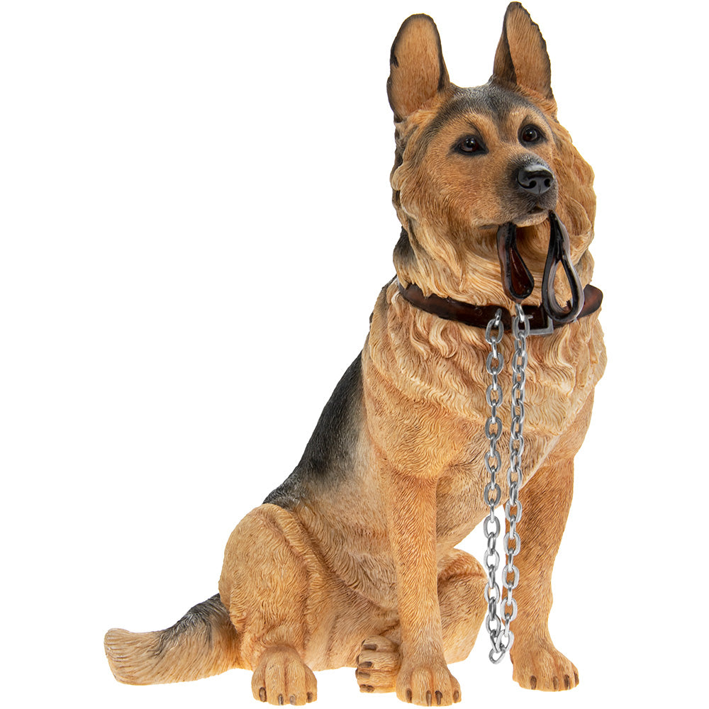 Walkies Sitting German Shepherd Dog Figurine