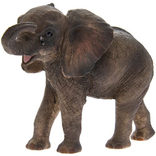 'Missing You' Standing African Elephant Calf Ornament
