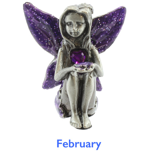 Pewter Birthstone Fairy - February