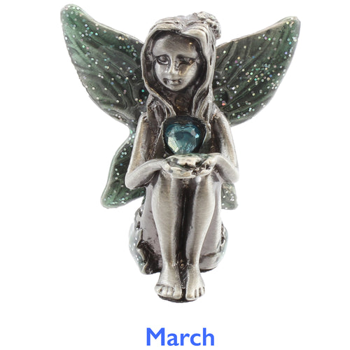 Pewter Birthstone Fairy - March