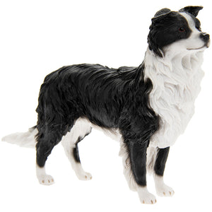 Black and White Standing Border Collie Ornament