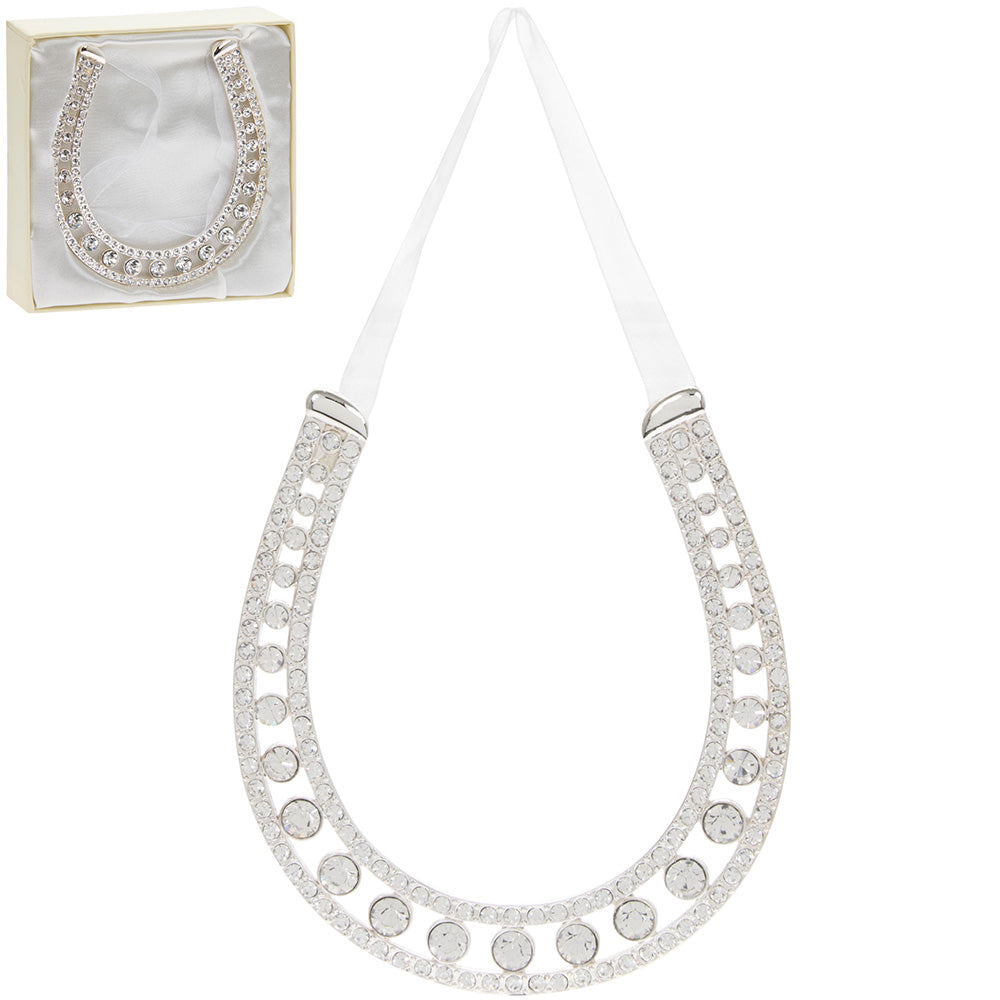 Diamante Wedding Lucky Horseshoe