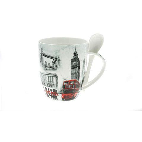Old London Theme Mug and Spoon Set