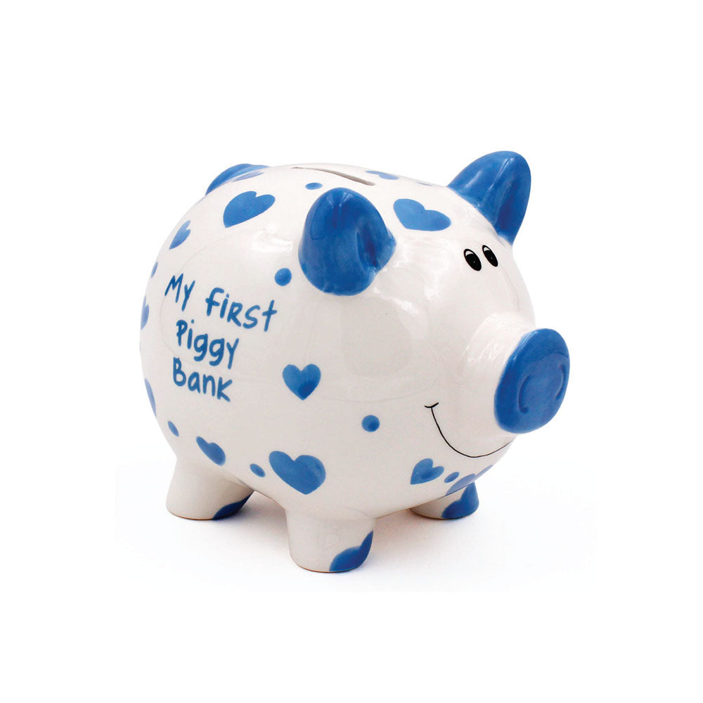Large My First Piggy Bank Blue