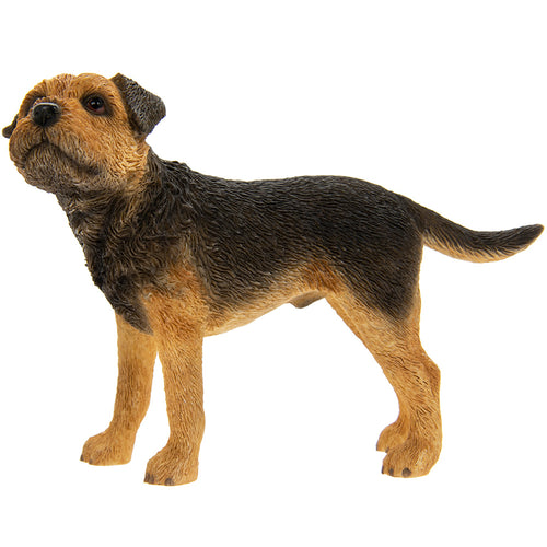 Black and Tan Standing Border Terrier Ornament