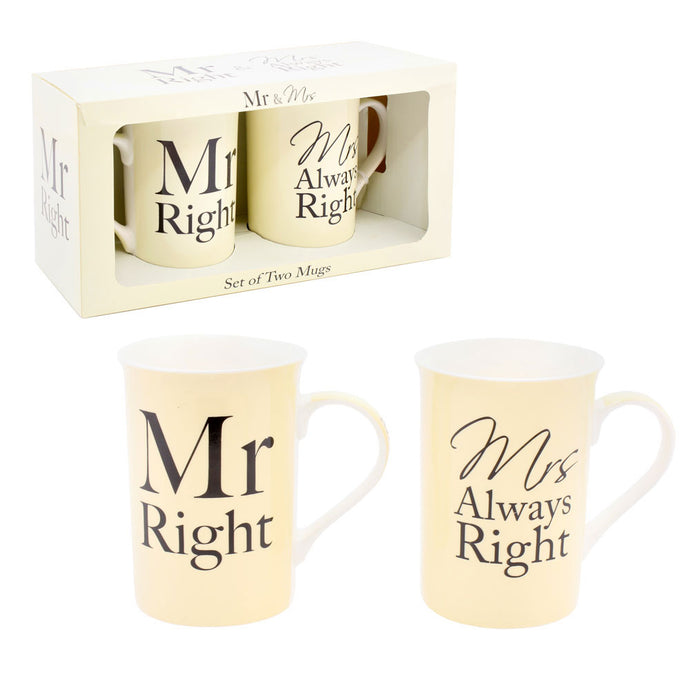 Mr Right & Mrs Right Mugs