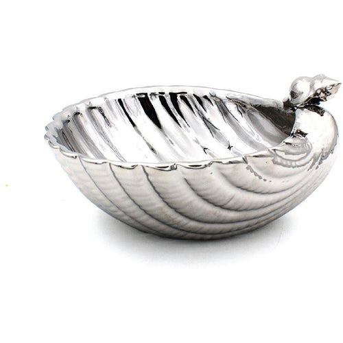 Silver Decorative Shell Bowl
