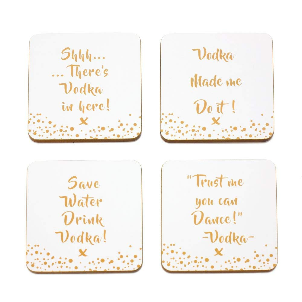 Vodka Slogan Coasters