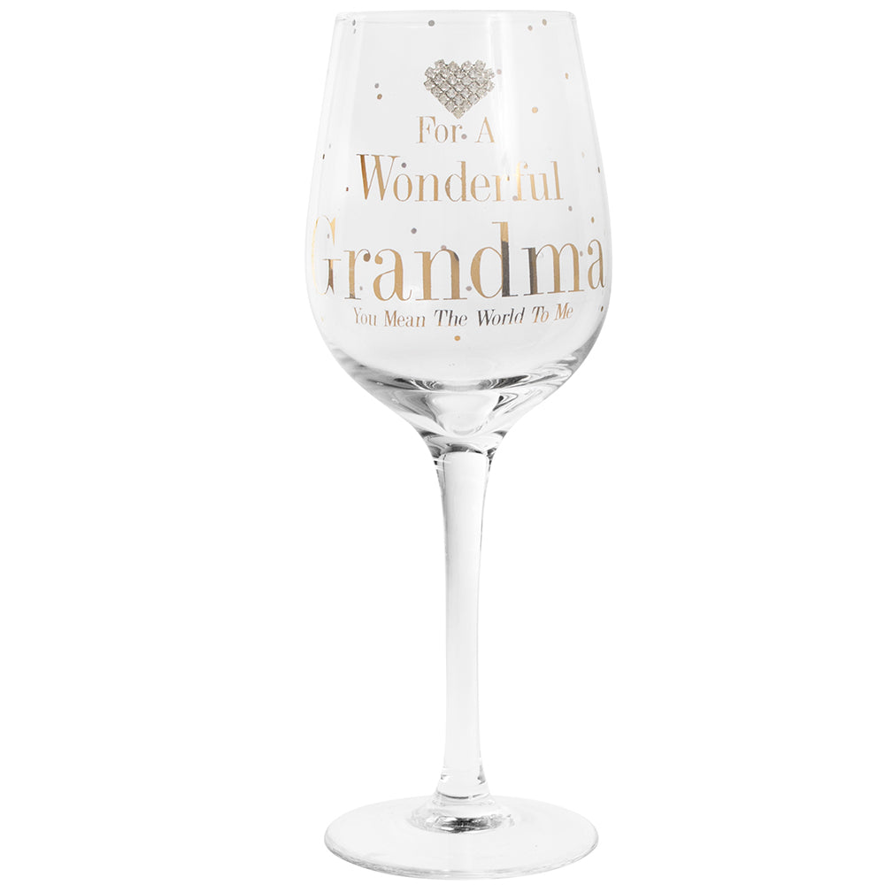 Mad Dots Grandma Wine Glass