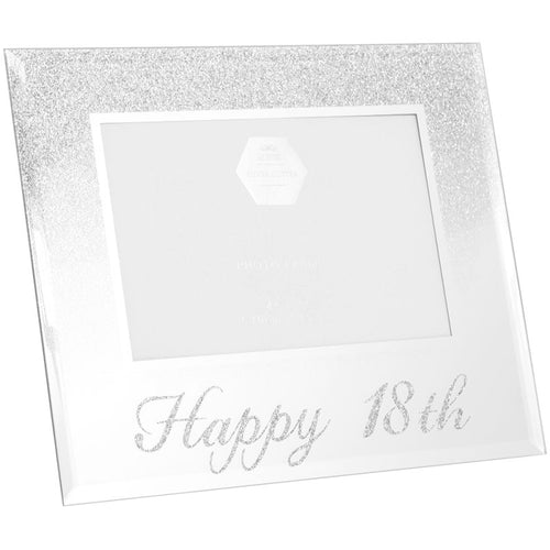 18th Birthday Silver Glitter Photo Frame