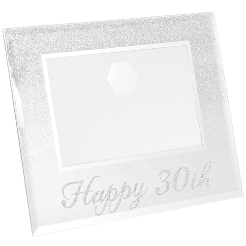 30th Birthday Silver Glitter Photo Frame