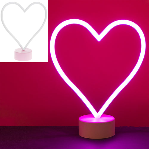 Heart Shaped Pink Neon Lamp