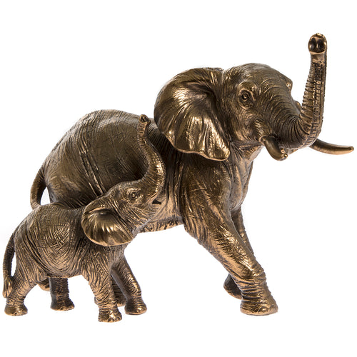 Bronzed Elephant and Calf