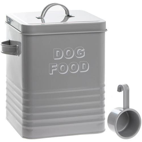 Dog Food Tin with Scoop