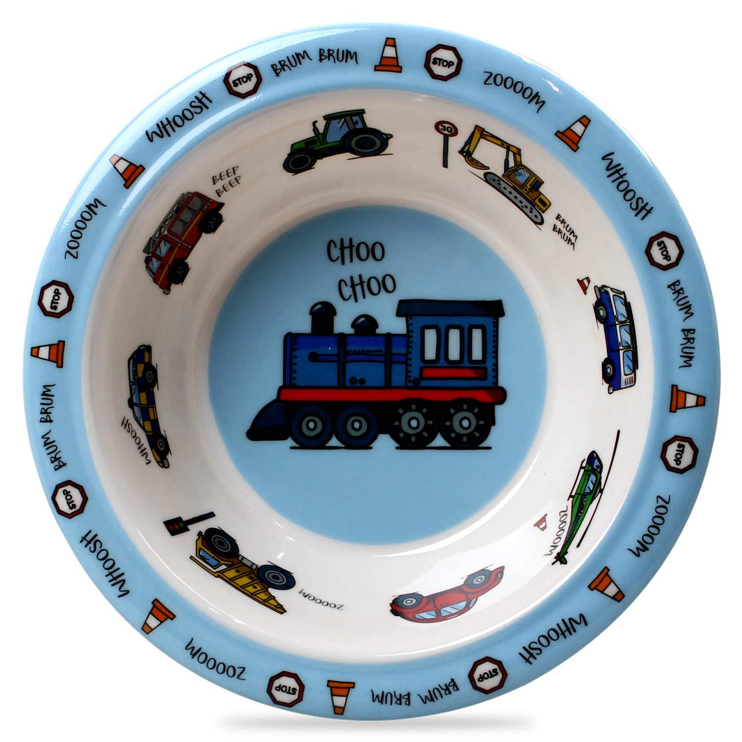 Vehicle Design Melamine Children's Bowl