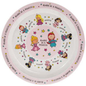 Princess Design Melamine Children's Plate