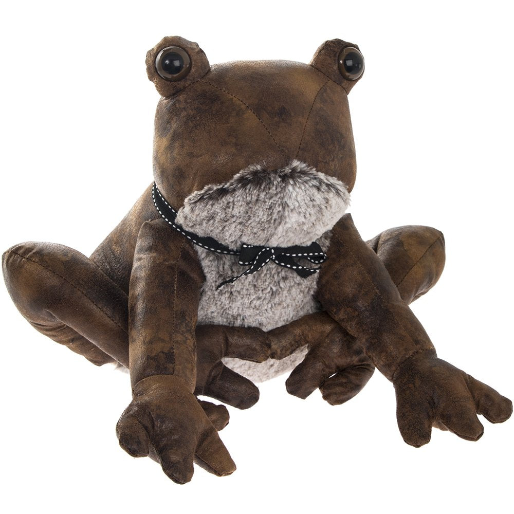 Brown Faux Leather Frog Doorstop