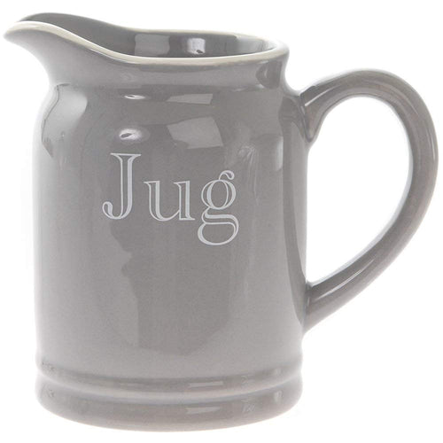 Grey Small Ceramic Milk Jug