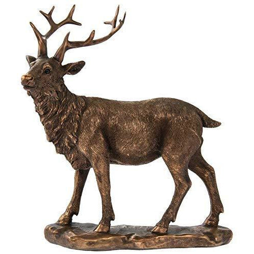 Bronzed Standing Stag Ornament