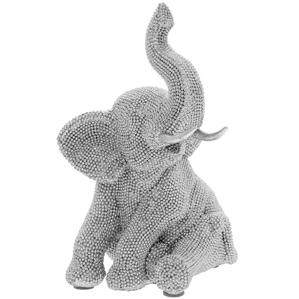 Diamante Sitting Elephant Figurine