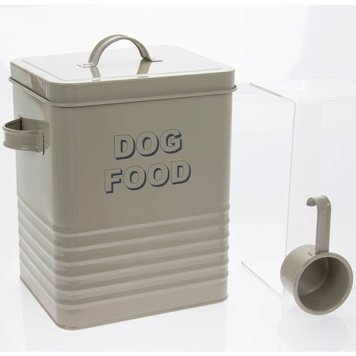 Sage Green Dog Food Tin with Scoop