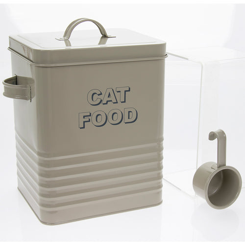 Sage Green Cat Food Container