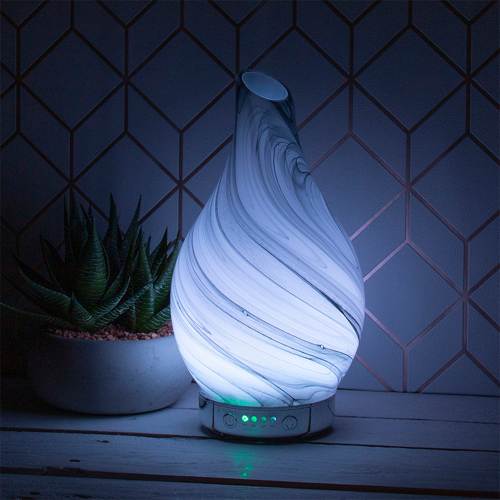 Desire Aroma Humidifier Marble Effect Diffuser Lamp