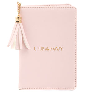 Bright Pink Passport Holder -  Up Up and Away
