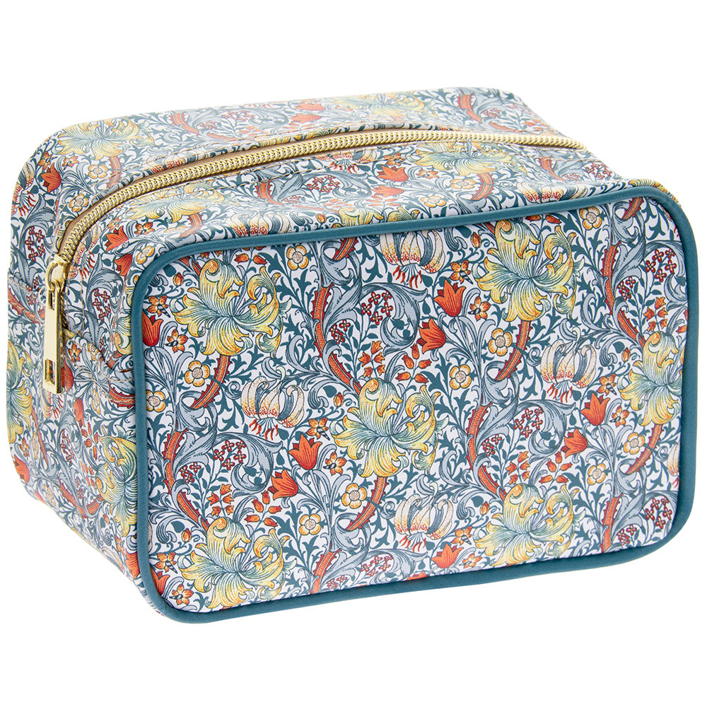 William Morris Golden Lily Design Cosmetic Bag