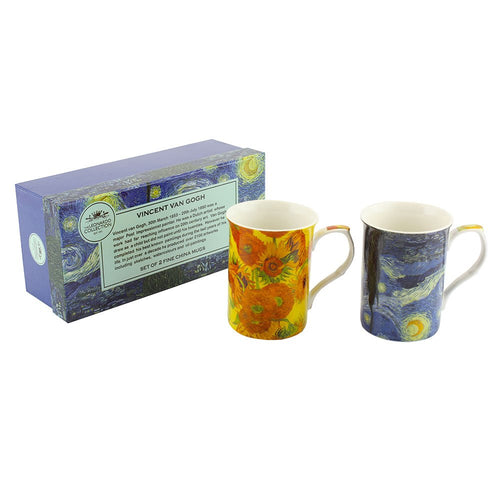 Van Gogh Fine China Mugs Set of Two