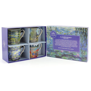 Monet Fine China Mugs Set of Four