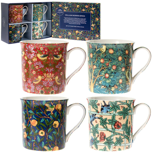 William Morris Fine China Mugs Set of Four