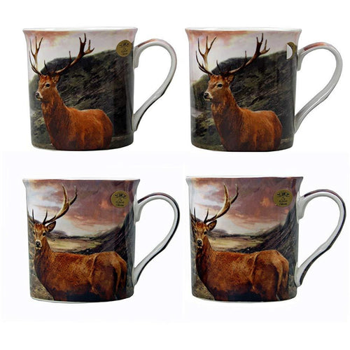 Stags Fine China Mugs Set of Four