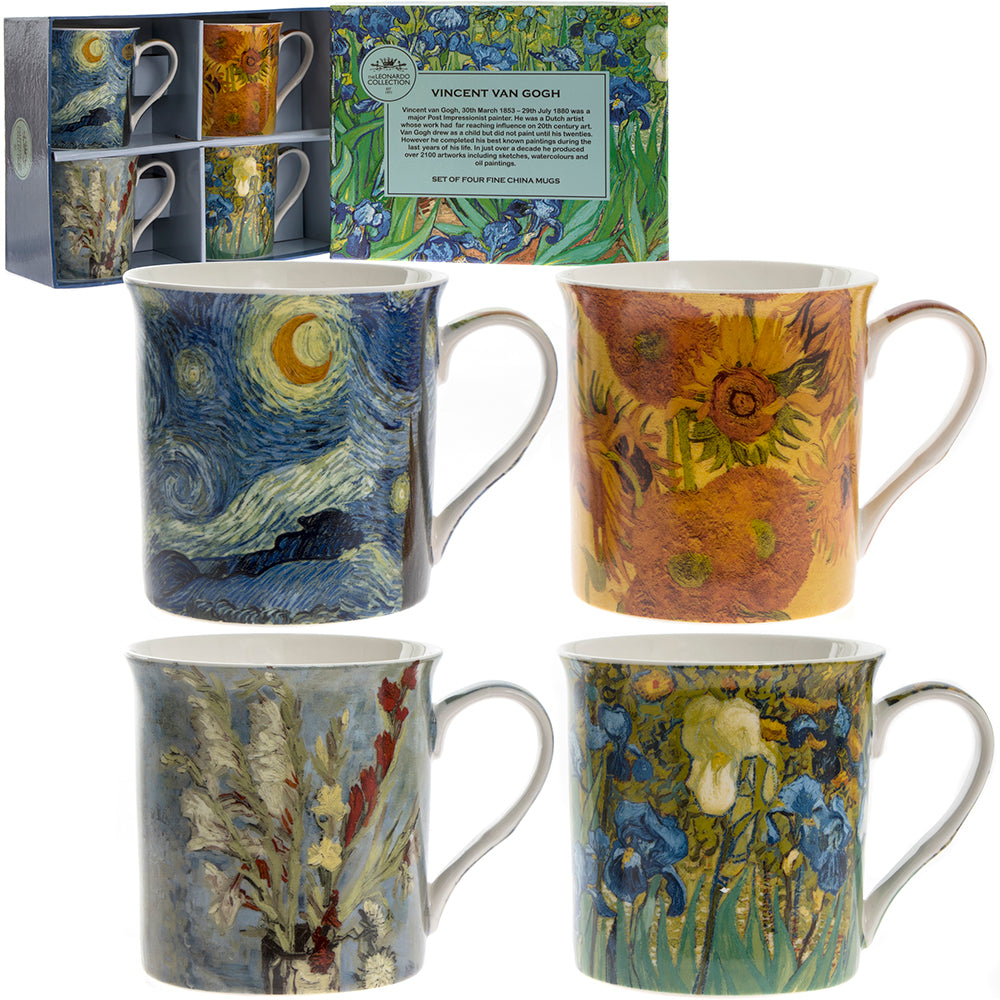 Van Gogh Fine China Mugs Set of Four
