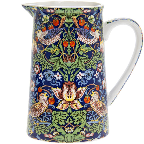 Blue William Morris Strawberry Thief Jug