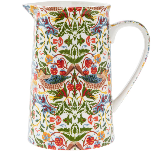 Strawberry Thief Jug White