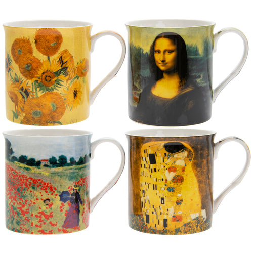 Four Famous Artists Fine China Mugs