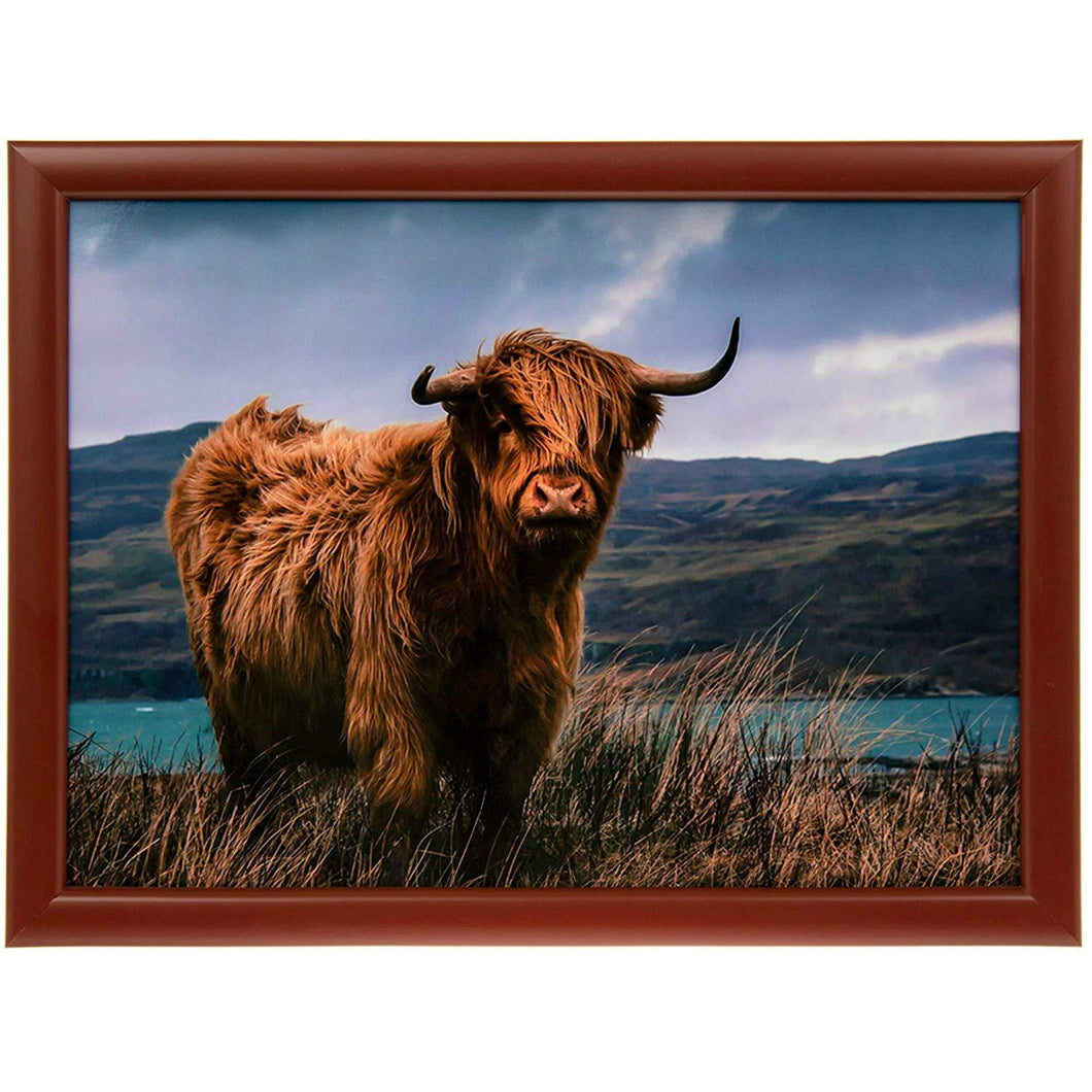 Highland Cow Lap Tray