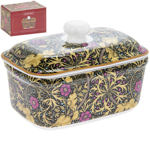 William Morris Seaweed Design Butter Dish