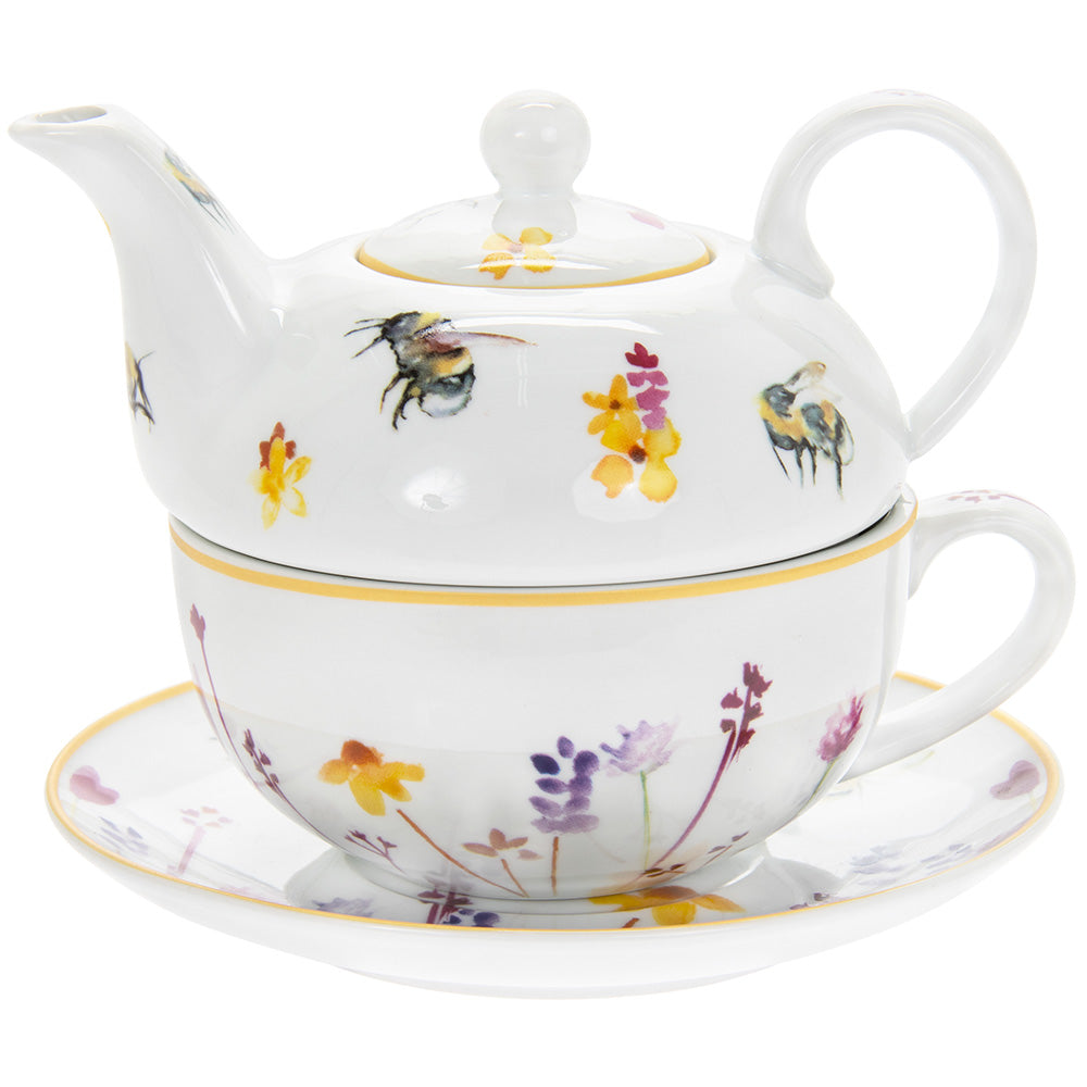 Busy Bees Fine China Tea For One