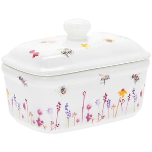 Busy Bees Fine China Butter Dish