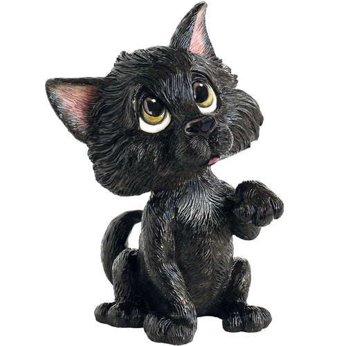 Little Paws Lucky the Black Cat Figurine