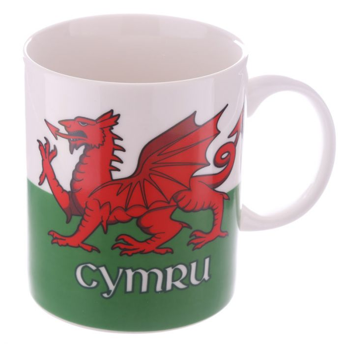 Welsh Flag Fine China Mug