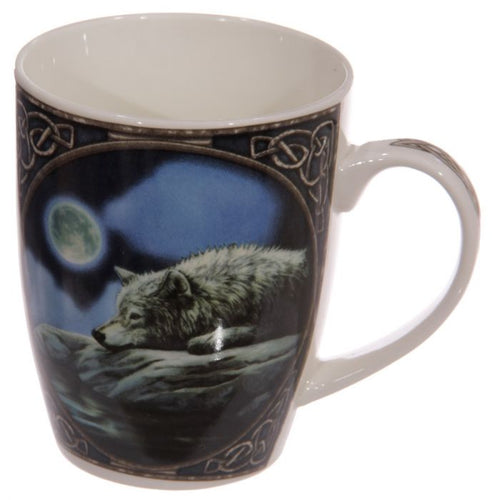 Lisa Parker Bone China Wolf Quiet Reflection Mug