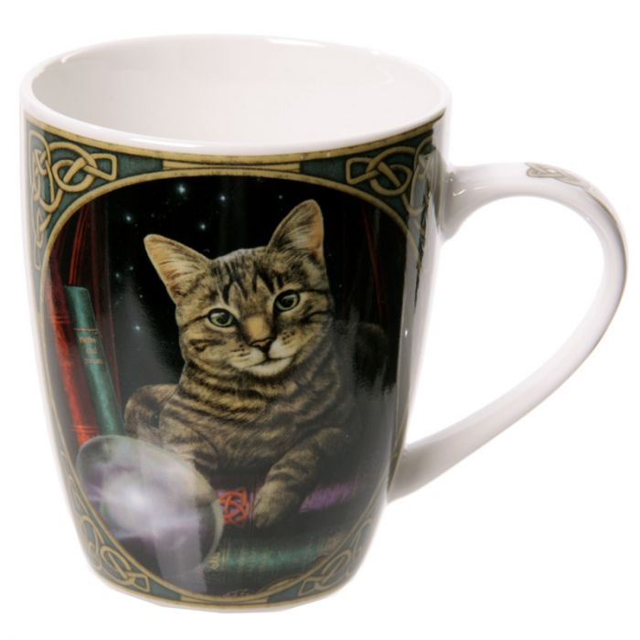 Lisa Parker Fortune Teller Cat Bone China Mug