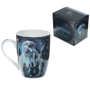 Lisa Parker Guidance Wolf Design Bone China Mug