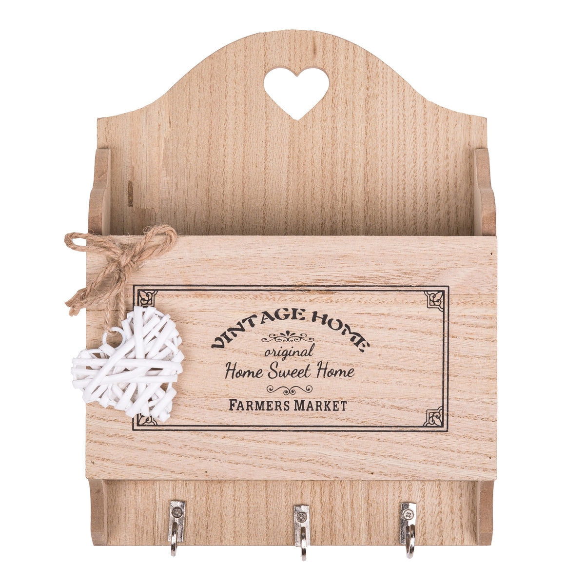 Woven Heart Letters Rack and Key Store