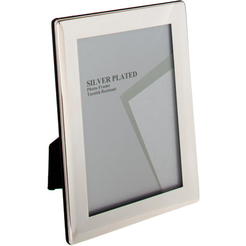 Silver Plated Rounded Thin Edge Photo Frame 3.5 x 5-inch