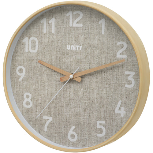 Bellevue Hessian Wall Clock